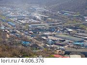 Купить «Рудневский мост над промышленным районом во Владивостоке», фото № 4606376, снято 7 мая 2013 г. (c) Сергеев Игорь / Фотобанк Лори