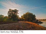 Теплый осенний вечер на реке (2012 год). Стоковое фото, фотограф Дина Евсеева / Фотобанк Лори