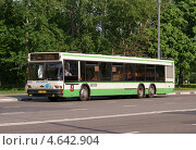 Купить «Пассажирский автобус у обочины», фото № 4642904, снято 17 мая 2013 г. (c) Павел Кричевцов / Фотобанк Лори
