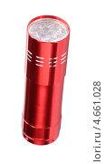Купить «Красный светодиодный фонарь на белом фоне», фото № 4661028, снято 24 ноября 2012 г. (c) Valeriy Novikov / Фотобанк Лори
