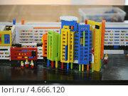 Купить «Макет современного города из конструктора Лего . Город будущего. Детский конкурс», фото № 4666120, снято 22 мая 2013 г. (c) Надежда Глазова / Фотобанк Лори