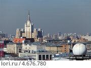 Купить «Москва, вид на центральную часть города с крыши здания», фото № 4676780, снято 9 мая 2013 г. (c) Игорь Долгов / Фотобанк Лори