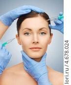 Купить «Медсестра делает укол в лицо девушки», фото № 4678024, снято 6 января 2013 г. (c) Syda Productions / Фотобанк Лори