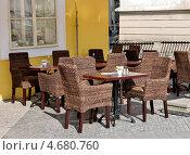 Купить «Прага. Уличное кафе», фото № 4680760, снято 26 апреля 2013 г. (c) Илюхина Наталья / Фотобанк Лори