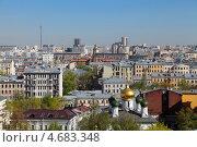Купить «Москва, вид на центральную часть города с крыши здания», фото № 4683348, снято 9 мая 2013 г. (c) Игорь Долгов / Фотобанк Лори