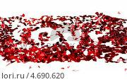 Купить «Confetti blown together to spell love», видеоролик № 4690620, снято 22 июля 2018 г. (c) Wavebreak Media / Фотобанк Лори