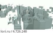 Купить «3d City forming from the bottom», видеоролик № 4726248, снято 17 июля 2019 г. (c) Wavebreak Media / Фотобанк Лори