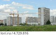 Строительство новых обьектов в городе Видное. Time lapse (2013 год). Стоковое видео, видеограф Soft light / Фотобанк Лори
