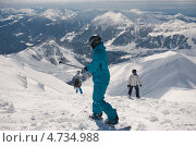 Лыжный курорт, Гудаури, Грузия (2013 год). Редакционное фото, фотограф Оксана Чорная / Фотобанк Лори