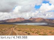 Пейзаж боливийского высокогорья с лагуной Морехон (2013 год). Стоковое фото, фотограф Dmitry Burlakov / Фотобанк Лори