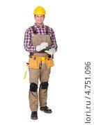 Купить «Портрет уверенного в себе строителя», фото № 4751096, снято 27 октября 2012 г. (c) Андрей Попов / Фотобанк Лори
