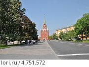 Троицкая башня, Арсенал, Кремль, Москва (2013 год). Редакционное фото, фотограф lana1501 / Фотобанк Лори