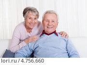 Купить «Портрет романтических счастливых пенсионеров», фото № 4756660, снято 15 декабря 2012 г. (c) Андрей Попов / Фотобанк Лори