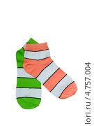 Купить «Разноцветные полосатые носки», фото № 4757004, снято 16 июня 2013 г. (c) Инна Грязнова / Фотобанк Лори