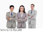 Купить «Портрет уверенных бизнесменов», фото № 4762288, снято 8 ноября 2011 г. (c) Wavebreak Media / Фотобанк Лори