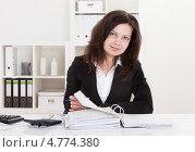 Купить «Портрет приветливой симпатичной деловой женщины», фото № 4774380, снято 1 января 2013 г. (c) Андрей Попов / Фотобанк Лори