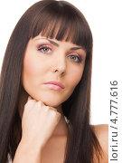 Купить «Очаровательная брюнетка с челкой и длинными волосами», фото № 4777616, снято 10 апреля 2010 г. (c) Syda Productions / Фотобанк Лори