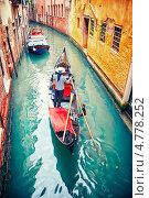 Купить «Гондола в Венеции, Италия», фото № 4778252, снято 10 мая 2013 г. (c) Вероника Галкина / Фотобанк Лори