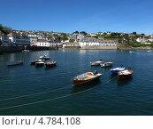 Лодки в бухте 2, Англия, графство Корнуолл, (Cornwall, UK) (2013 год). Стоковое фото, фотограф Гурова Анна / Фотобанк Лори