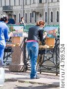 Купить «Художница на этюдах. Набережная Мойки», эксклюзивное фото № 4789524, снято 15 июня 2013 г. (c) Александр Щепин / Фотобанк Лори