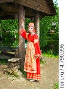Купить «Девушка в русском народном костюме», фото № 4790996, снято 23 июня 2013 г. (c) ElenArt / Фотобанк Лори