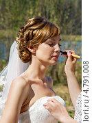 Купить «Макияж невесты в день свадьбы», фото № 4791008, снято 10 мая 2013 г. (c) ElenArt / Фотобанк Лори