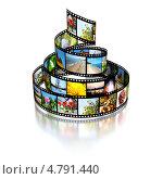 Купить «Фотопленка с различными изображениями», иллюстрация № 4791440 (c) Сергей Куров / Фотобанк Лори