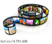 Купить «Фотопленка с различными снимками», иллюстрация № 4791448 (c) Сергей Куров / Фотобанк Лори