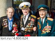 Купить «Ветераны 9 мая 2013 года», эксклюзивное фото № 4800624, снято 9 мая 2013 г. (c) Михаил Ворожцов / Фотобанк Лори