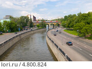 Вид с Костомаровского моста на Яузу и Андроников виадук (2013 год). Стоковое фото, фотограф Pukhov K / Фотобанк Лори