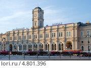 Купить «Московский вокзал ранним утром. Санкт-Петербург», эксклюзивное фото № 4801396, снято 27 июня 2013 г. (c) Александр Щепин / Фотобанк Лори