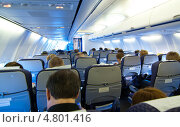 Салон самолета Boeing 737 (2013 год). Редакционное фото, фотограф Вячеслав Палес / Фотобанк Лори
