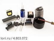 Купить «Элементы электронного устройства», фото № 4803072, снято 17 июня 2013 г. (c) Александр Басов / Фотобанк Лори