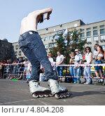 Купить «Соревнования по фристайлу на роликах», фото № 4804208, снято 25 июля 2010 г. (c) Станислав Фридкин / Фотобанк Лори