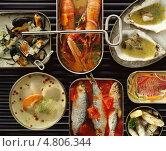 Купить «Изысканные блюда из морепродуктов», фото № 4806344, снято 20 июля 2019 г. (c) Food And Drink Photos / Фотобанк Лори