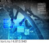 Купить «Гены и наследственность. Коллаж с молекулой ДНК», фото № 4813940, снято 19 сентября 2019 г. (c) Sergey Nivens / Фотобанк Лори