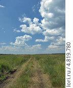 Купить «Дорога через поле», фото № 4819780, снято 29 июня 2013 г. (c) Самойлова Екатерина / Фотобанк Лори