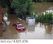 Потоп в Одинцово после дождя 7.07.2013 года. Редакционное фото, фотограф Константин Григорьев / Фотобанк Лори