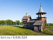Купить «Остров Кижи. Часовня Архангела Михаила», фото № 4836924, снято 7 июня 2013 г. (c) Igor Lijashkov / Фотобанк Лори