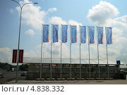 Купить «Флаги Универсиады в Казани», фото № 4838332, снято 9 июля 2013 г. (c) Динара Х / Фотобанк Лори