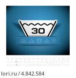 Купить «Символы стирки», иллюстрация № 4842584 (c) Павлов Максим / Фотобанк Лори