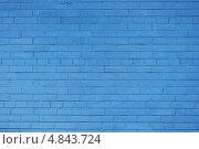 Синяя кирпичная стена. Стоковое фото, фотограф Анна Верещагина / Фотобанк Лори