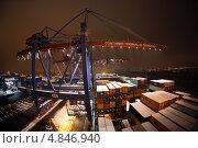 """""""NYK ORION"""" в порту Гамбурга (2010 год). Редакционное фото, фотограф Виталий Николаев / Фотобанк Лори"""