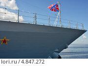 Купить «Гюйс корабля ВМФ РФ», эксклюзивное фото № 4847272, снято 3 июля 2013 г. (c) Александр Алексеев / Фотобанк Лори