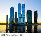 Купить «Москва-Сити на закате», фото № 4860136, снято 3 июня 2013 г. (c) Triff / Фотобанк Лори