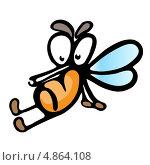 Мультипликационный комар. Стоковая иллюстрация, иллюстратор Dvarg / Фотобанк Лори