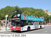 Туристический автобус в Барселоне (2013 год). Редакционное фото, фотограф Buyanka / Фотобанк Лори