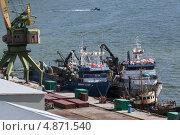 Купить «Рыболовные суда — краболовы-процессоры», фото № 4871540, снято 14 июля 2013 г. (c) А. А. Пирагис / Фотобанк Лори