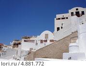 Купить «Белые дома на острове Санторини, Греция», фото № 4881772, снято 20 июня 2013 г. (c) Иван Демьянов / Фотобанк Лори