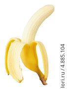 Открытый банан на белом фоне. Стоковое фото, фотограф Владимир Красюк / Фотобанк Лори